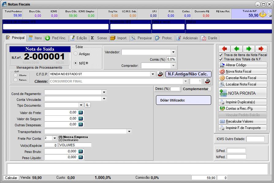 Basic 06 – Tela de Notas Fiscais
